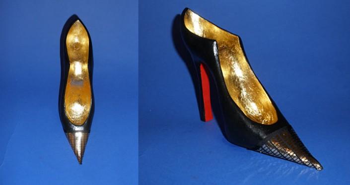 ©Heidi Loewen Gold Stiletto Shoes