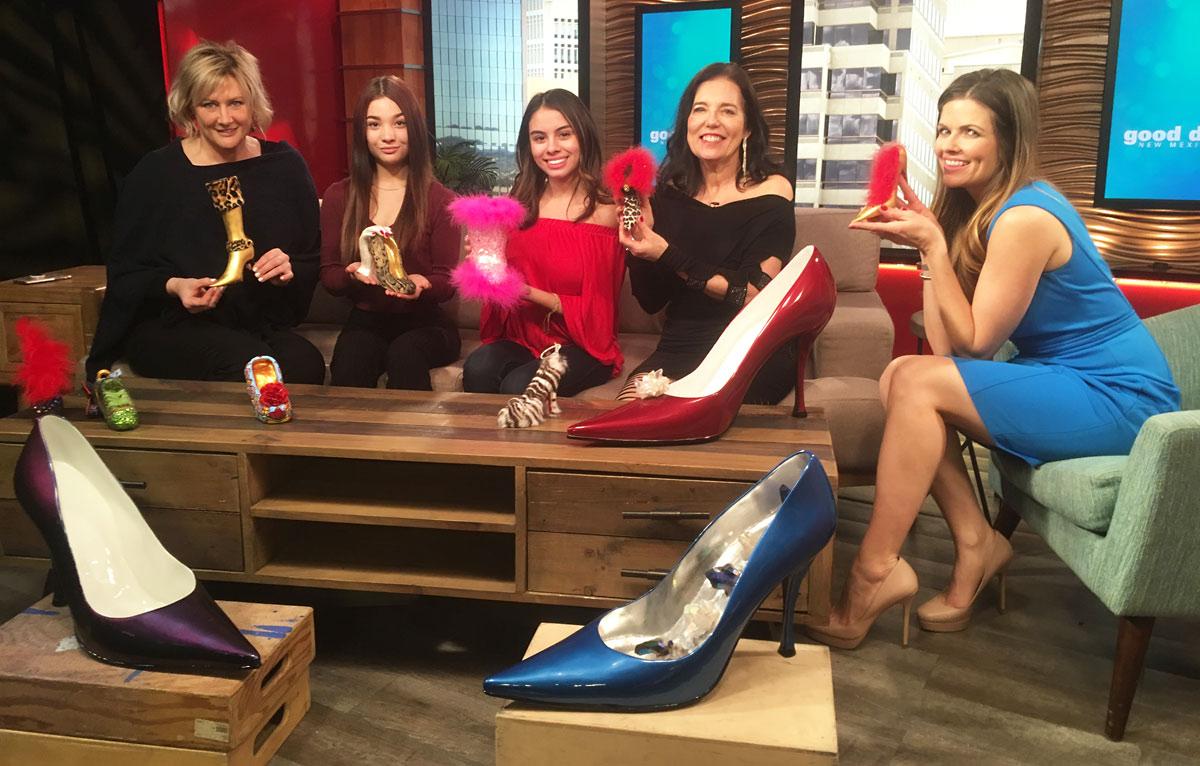 Deborah Fritz, Adriana Ritch, Kristiana Sandoval, Heidi Loewen, host Casey Messer of KOB TV